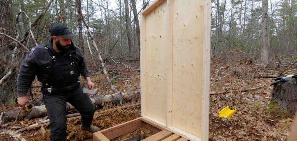 building outhouse walls