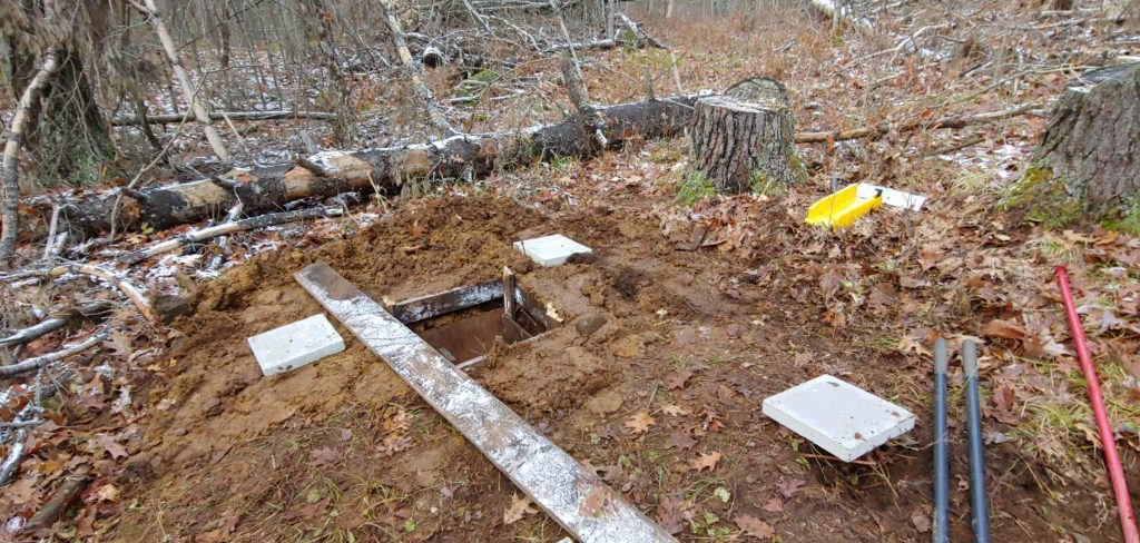 level ground for outhouse